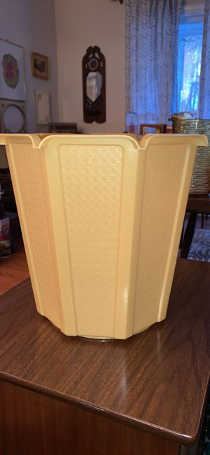 Vintage - Retro - Yellow - Rubbermaid waste bin - waste basket for Sale in Cary, NC
