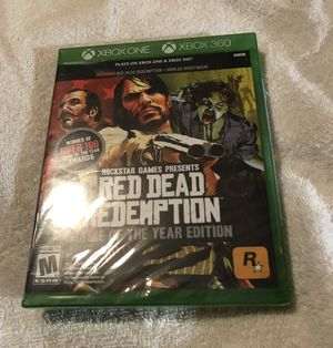 BRAND NEW AND FACTORY SEALED Red Dead Redemption Xbox One/360 Game of Year Edition, Rockstar Games for Sale in Knightdale, NC
