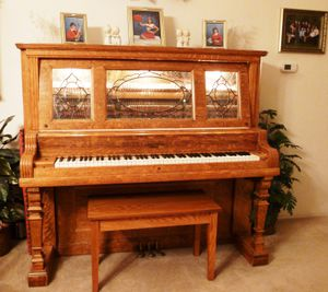 Kimball 1914 Piano with Lighted Stain Glass Windows - Georgeous for Sale in Camas, WA