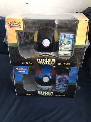 Pokémon hidden fates great and ultra ball collection set. for Sale in Irvine, CA
