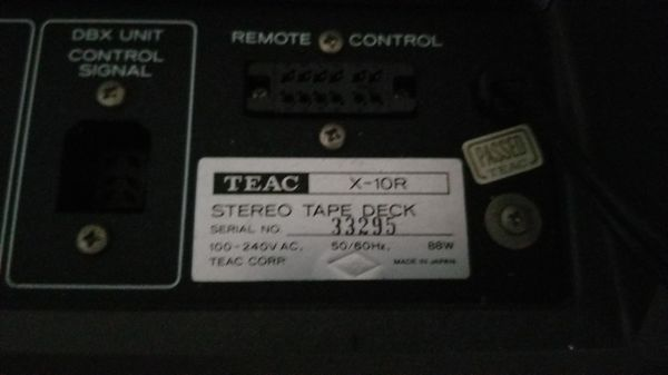 TEAC X-10R - For parts