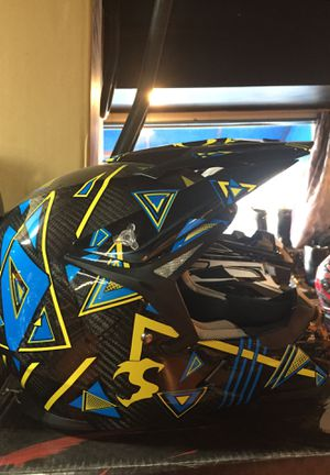 New carbon fiber dot off road dirt bike motorcycle helmet $140 for Sale in Santa Fe Springs, CA