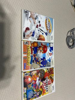 Wii Party Games, Mario and Sonic at the Onlypic Games and Bakugan. Games for Wii for Sale in Miramar,  FL