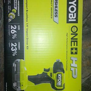 "Ryobi One Plus Hp Compact Brushless 1/4"" Hex Impact Driver Kit for Sale in Bonney Lake, WA"