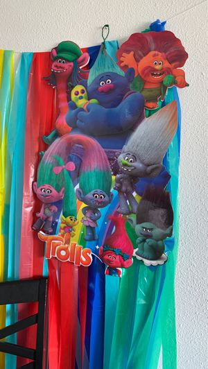 Trolls party decorations for Sale in Fontana, CA