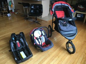 Nice baby stroller, car seat, and baby carrier for Sale in Chicago, IL