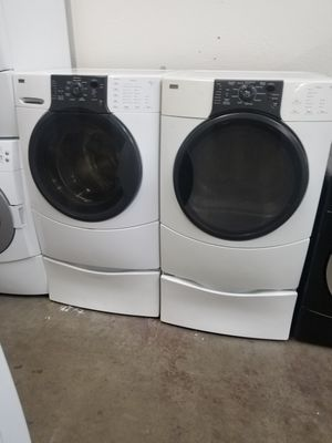 Kenmore washer and Kenmore electric dryer with pedestal for Sale in The Colony, TX