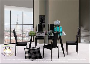 BRAND NEW Nationwide Furniture 7-Piece Dining Set With Two-tone Glass-top table for Sale in Hilliard, OH