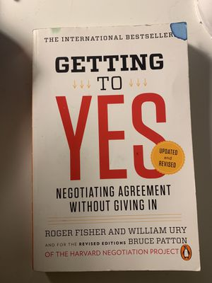 Getting To Yes by Roger Fisher and William Ury for Sale in Los Angeles, CA