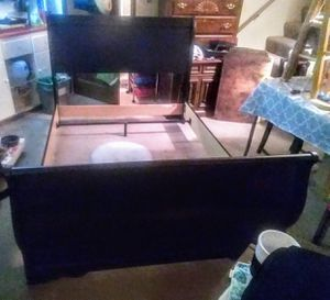 Black Full size Sleigh bed frame Ashley Furniture Store for Sale in Ocean Shores, WA