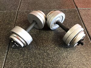 Adjustable Dumbbells 💪🏻 Set (30 lbs Each) for Sale in Santa Clarita, CA