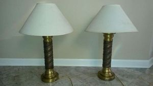 2 beautiful solid brass and copper lamps for Sale in Spencerville, MD
