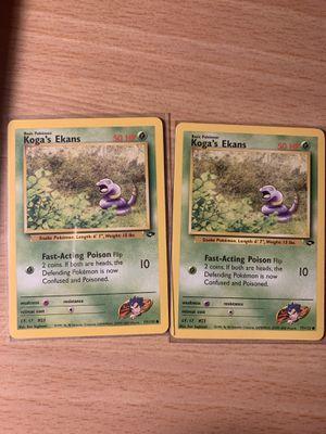 2 Koga's Ekans Pokemon Gym Challenge Common Card (77/132) - NM/M for Sale in Springfield, VA