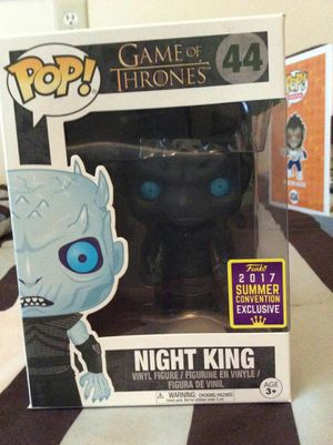 Funko Pop! # 44 GoT Night King Translucent Eyes for Sale in Marquette, MI