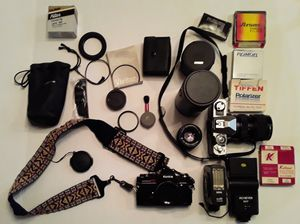 FILM CAMERA PACKAGE for Sale in LOS RNCHS ABQ, NM
