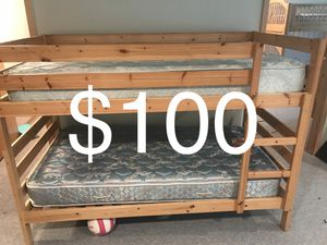 bunk beds w/ mattresses - $100 for Sale in Orondo, WA