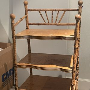 Vintage Bamboo 4 Shelf Stand/bookcase for Sale in Medina, WA