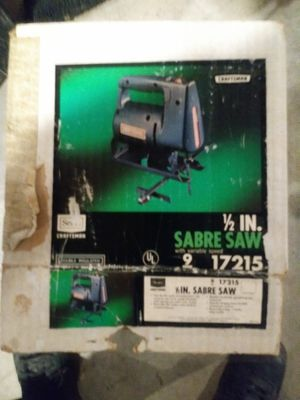 Sears craftsman 1/2 in sabre saw for Sale in Wausau, WI