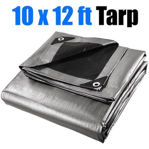 $15 (new in box) outdoor heavy-duty 10x12 ft tarp 10mil thickness reinforced canopy tent replacement cover tarpaulin for Sale in Pico Rivera, CA