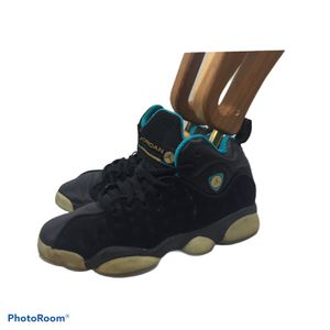 Nike Air Jordan Jumpman Team Pro II 874749-003 Black/Teal/Gold Youth Sz 4Y for Sale in Milan, GA