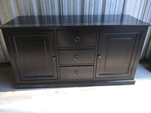 Used large wood entertainment center tv stand for Sale in Nashville, TN