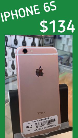 Unlocked for any service & worldwide clean new condition with warranty on sale iPhone 6S ! We have 3 colors Available for Sale in Tampa, FL