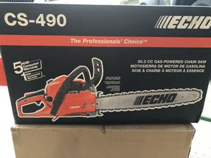 Brand New CS-490 ECHO Chainsaw 20 in. 50.2 cc Gas 2-Stroke Cycle for Sale in Stockbridge, GA