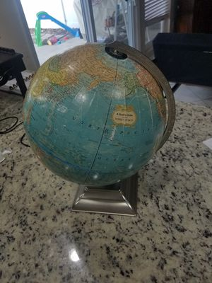 "George F. Cram - world globe - 12"" diameter - table top - vintage for Sale in Temecula, CA"