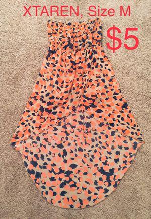 XTAREN, High/Low Strapless Chiffon Dress, Size M for Sale in Phoenix, AZ