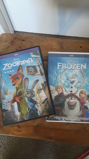 Disney movies (Zootopia)(Frozen) for Sale in Downey, CA