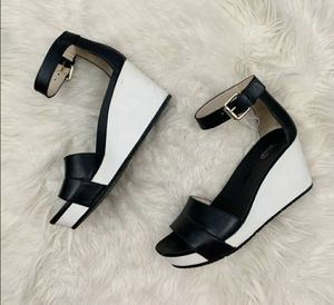 Dr. Scholl's black & white wedge Sandals for Sale in Hillsborough, NC