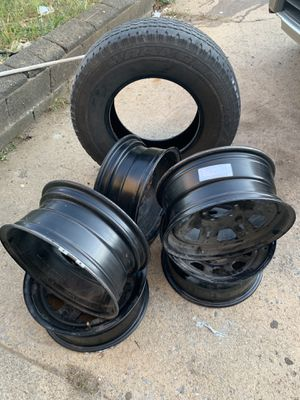 RIMS AND ONE SPARE TIRE for Sale in Philadelphia, PA