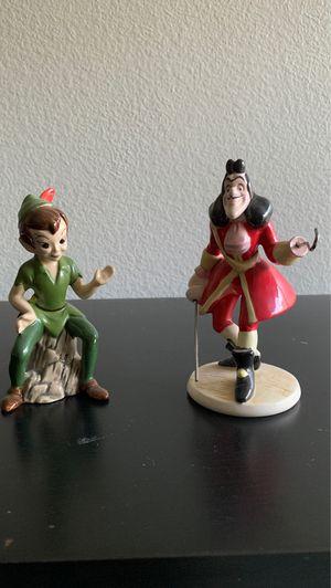 Disney Peter Pan and Captain Hook porcelain figures for Sale in La Verne, CA