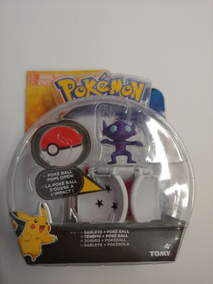POKEMON TOMY SABLEYE POKE BALL POPS OPEN BRAND NEW IN SEALED PACKAGE.  2017 RARE! for Sale in Santa Ana, CA