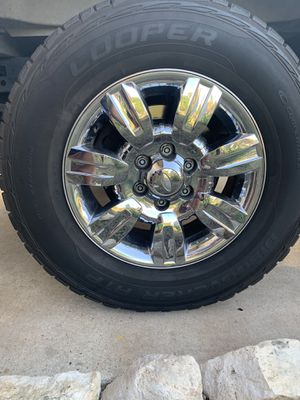 cooper tire and ford oem chrome rims for Sale in San Antonio, TX