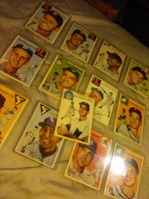 13 card lot of 1954 topps baseball cards nm mint condition. for Sale in Hanford, CA