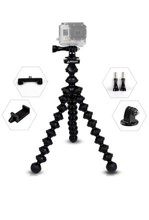 MiPremium ProFlexPod G1 Flexible Tripod Stand kit with (Free Tripods Adapter, Dual Mount, Smartphone Clip), Tripod for GoPro Hero Session Black Silve for Sale in Los Angeles, CA