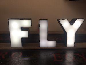 Light Up FLY Letter Decor for Sale in Phoenix, AZ