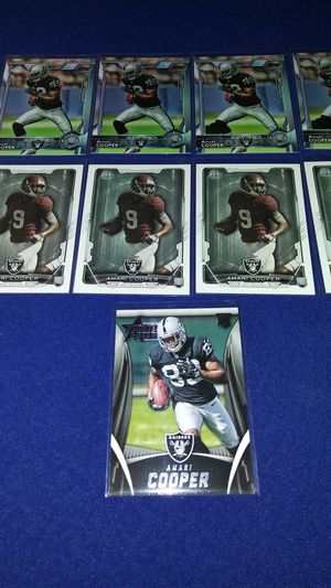 8 Amari Cooper rookie cards $5 takes all for Sale in Garland, TX