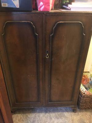 Antique cabinet wardrobe chest dresser for Sale in Phoenix, AZ