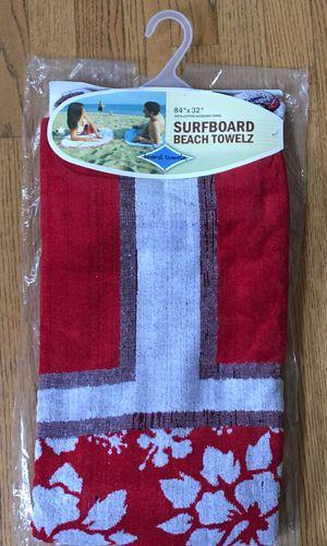 Surfboard beach towel for Sale in Houston, TX