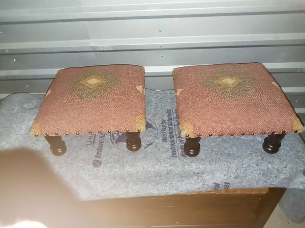 Wooden stool pair