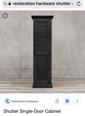 2 Restoration Hardware Shutter Single Door Storage Cabinets for Sale in Boston, MA