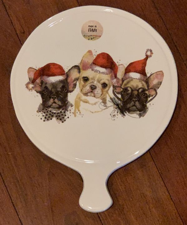 🆕 Adorable FRENCHIE Ceramica Cuore Trivet 🎁🐾