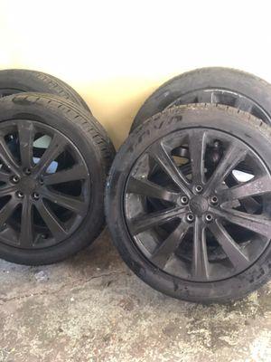 "17"" Black rim and tire set Subaru WRT for Sale in Houston, TX"