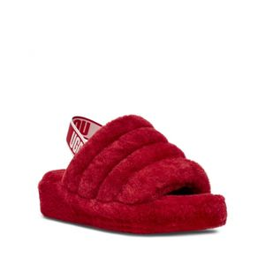 New Women's Red Ugg Fluff Slides MOST OF U.S WOMEN SIZES AVAILABLE for Sale in Long Beach, CA