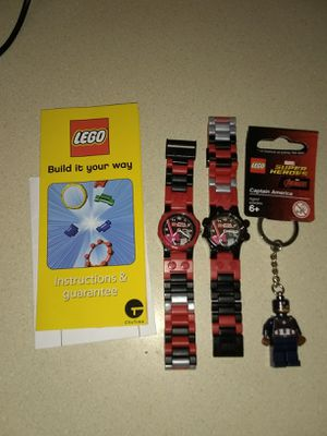 BRAND NEW LEGO WATCHES AND 1 NEW CAPTAIN AMERICA KEYCHAIN for Sale in Fircrest, WA