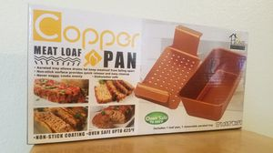 New in Box!!! Copper Pan Meat Loaf Pan for Sale in Las Vegas, NV