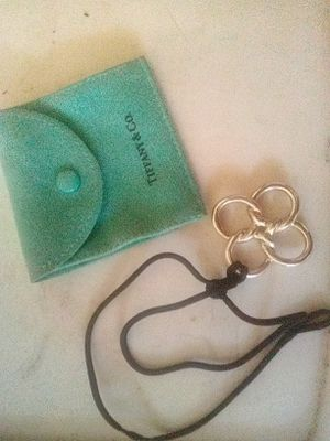 Authentic Sterling silver Tiffany & Co. Necklace with original silk cord for Sale in Turlock, CA