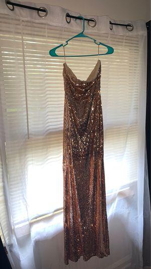 Strapless make a scene Sequin dress RoseGold (fashion Nova) for Sale in Decatur, GA